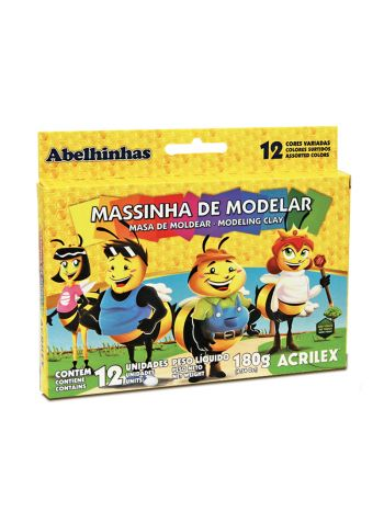MASSA DE MODELAR ACRILEX C/12 180G 7012