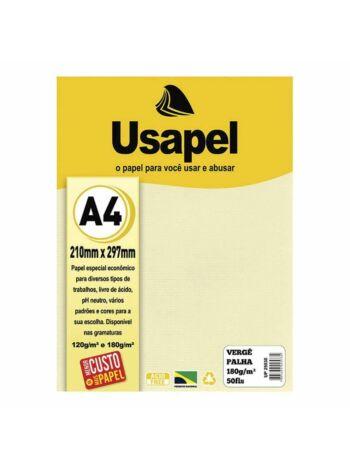 PAPEL USAPEL VERGE 180G 50F PALHA 25030