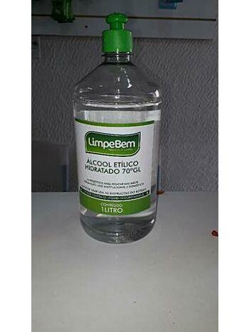ALCOOL ETILICO LIMPE BEM 1L 70%