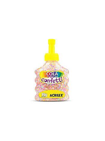 COLA CONFETI ACRILEX 95G 2495 498 ALGODA