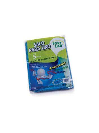 SACO FORT FLEX P/LIXO 100LT 75X1,5 C/5