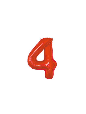 BALAO MAKE+ MET 16' 40CM VERMELH NUMER 4