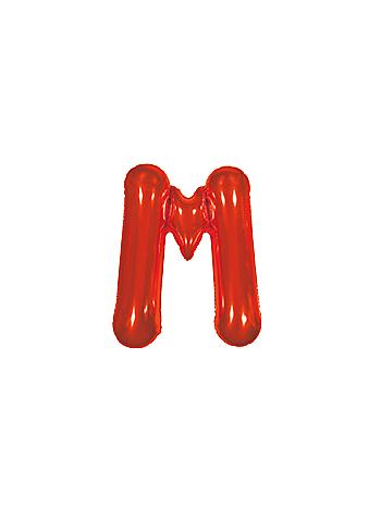 BALAO MAKE+ MET 16' 40CM VERMELH LETRA M