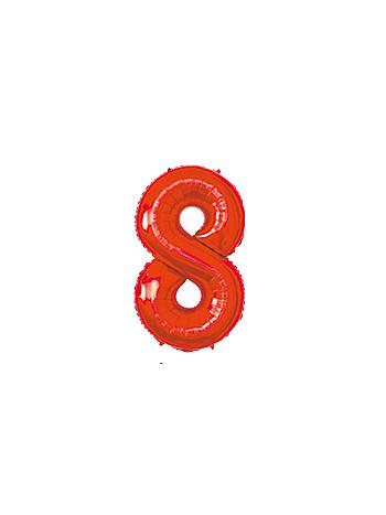 BALAO MAKE+ MET 16' 40CM VERMELH NUMER 8