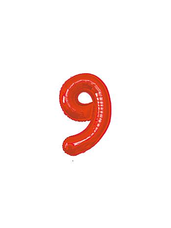 BALAO MAKE+ MET 16' 40CM VERMELH NUMER 9