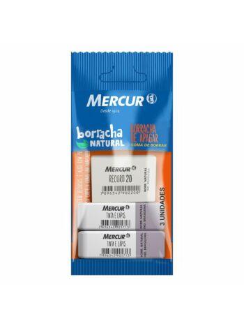 BORRACHA MERCUR TINTA/LAPIS C/2+REC 20