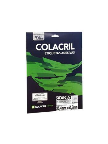 ETIQUETA COLACRIL CC280 25,4X66,7 C/25F
