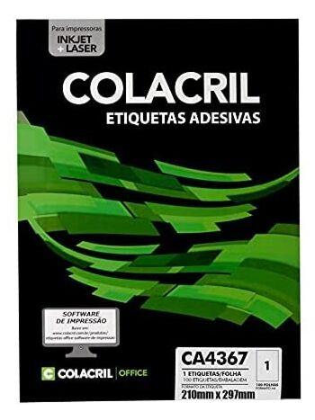 ETIQUETA COLACRIL CA4367 210X297 C/100F
